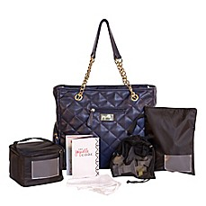 image of J.L. Childress jay elle 6-Piece Breast Pump Bag in Navy