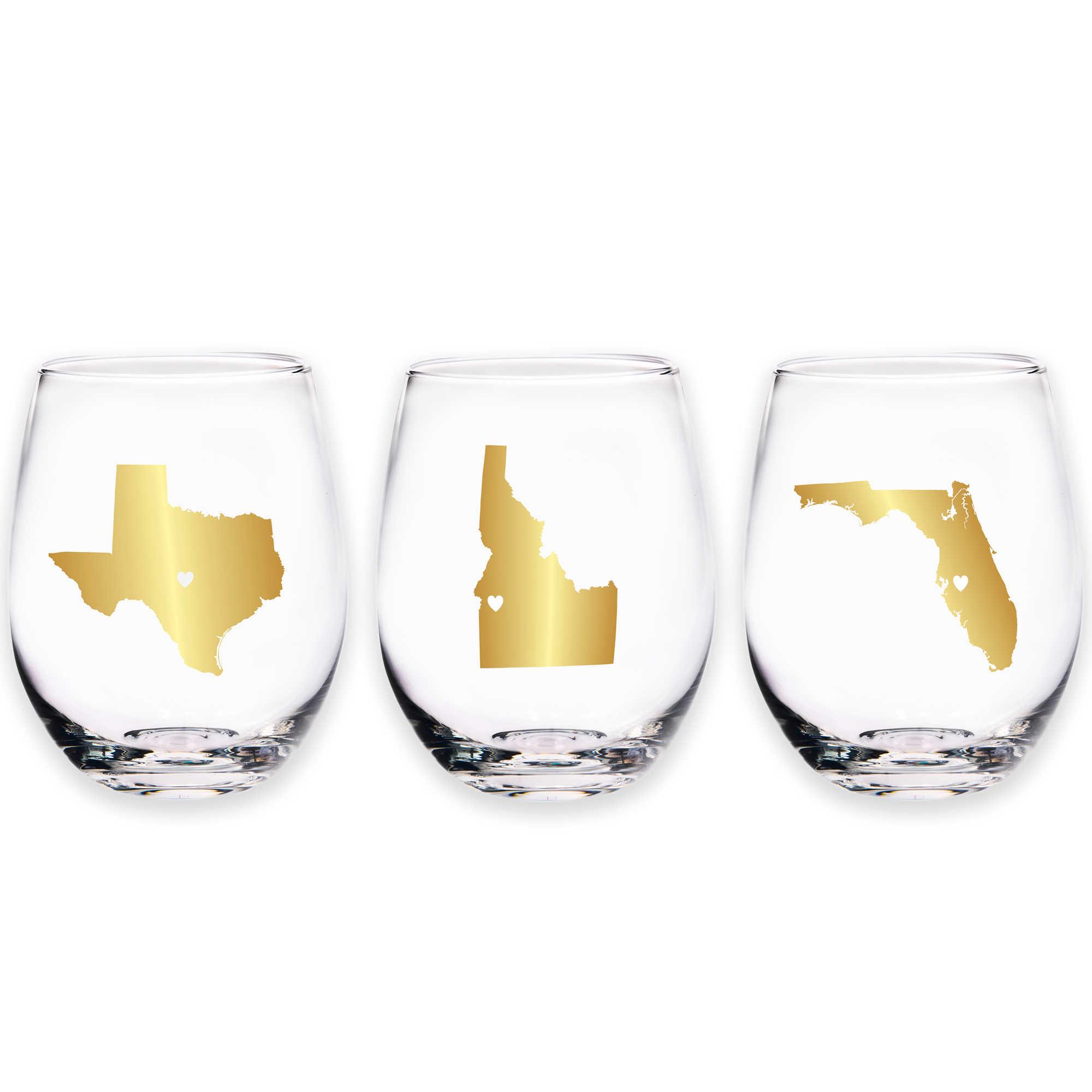 Home Essentials & Beyond Map Stemless Wine Glass - Bed Bath & Beyond