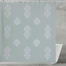 image of Creative Bath Boho Shower Curtain in Aqua