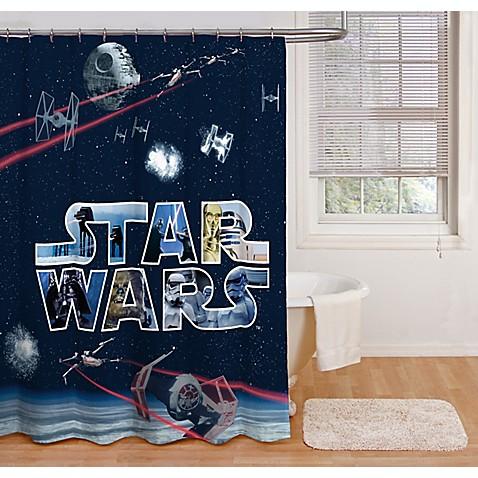 Star Wars Space Battle 72 Inch Shower Curtain Bed Bath