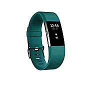 image of Fitbit® Charge 2™ Wireless Activity Wristband in Teal/Silver