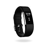 image of Fitbit® Charge 2™ Wireless Activity Wristband in Black/Silver