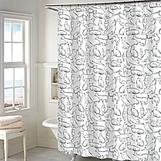 Periodic table of elements shower curtain bed bath beyond cats shower curtain in white urtaz Choice Image