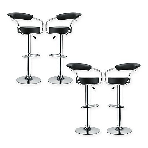 Buy Modway Diner Bar Stool In Black Set Of 4 From Bed