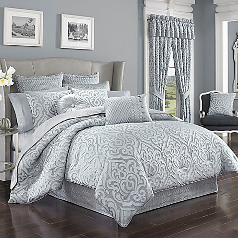 j queen new york harrison comforter set in chrome bed bath u0026 beyond - J Queen New York Bedding