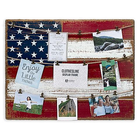 Malden® 21-Inch x 27-Inch American Flag Frame Collage - Bed Bath ...