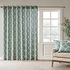 madison park saratoga 84 inch grommet top patio door window curtain panel - Door Panel Curtains