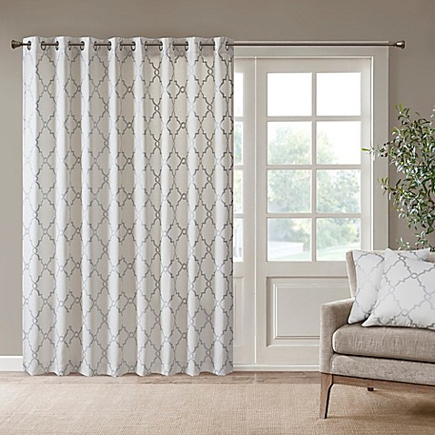 Buy Madison Park Saratoga 84 Inch Grommet Top Patio Door Window Curtain Panel In Ivory Silver