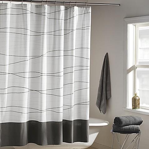 Dkny Wavelength Shower Curtain In Grey Bed Bath Amp Beyond