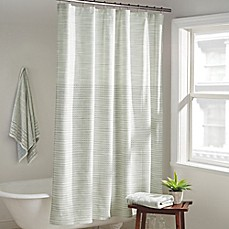 image of DKNY Yorkville Shower Curtain in Mist