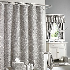 image of J. Queen New York™ Colette Shower Curtain in Silver