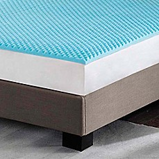 Image Of Sleep Philosophy Flexapedic 3 Inch Gel Foam Topper In Blue