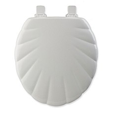 image of Mayfair® Easy-Clean & Change™ Wide Round Toilet Seat in White Shell