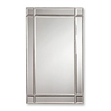 Image Of Valentina 22 Inch X 36 Frameless Rectangular Wall Mirror In Silver