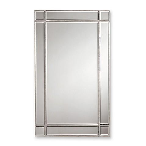 Valentina 22 inch x 36 inch frameless rectangular wall - Silver bathroom mirror rectangular ...