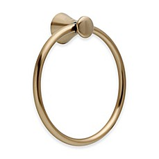 image of Delta Lahara Towel Ring in Champagne Bronze