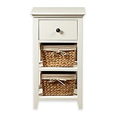 image of pulaski basket bathroom storage cabinet in linen white - Bathroom Cabinets Bed Bath And Beyond