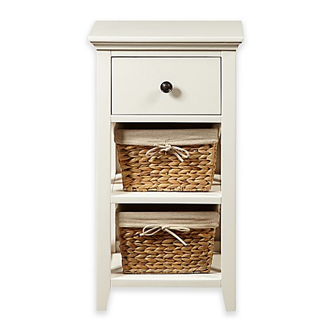Pulaski Basket Bathroom Storage Cabinet In Linen White Bed Bath Beyond
