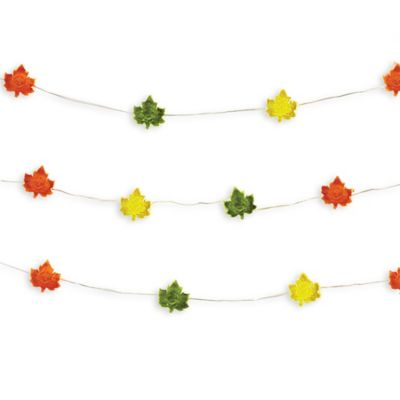 String Lights Leaves : Loft Living 10-Foot Harvest Leaves LED String Lights - Bed Bath & Beyond