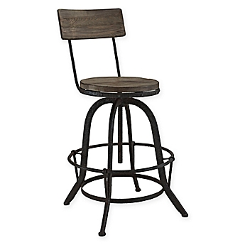 Counter Stools Swivel Stools Metal u0026 Leather Bar Stools - Bed Bath u0026 Beyond  sc 1 st  Bed Bath u0026 Beyond : bar stools metal - islam-shia.org