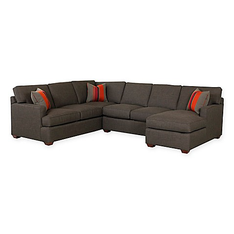 Klaussnerr loomis sectional sofa in charcoal bed bath for Sectional sofa delivery