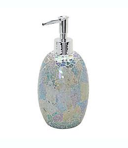 Dispensador de jabón de vidrio India Ink Aurora® craquelado color pastel