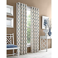 image of J. Queen New York™ Adorn Grommet Top Embroidered Window Curtain Panel