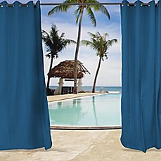 Image Of Sunbrella® Canvas Grommet Top Indoor/Outdoor Curtain Panel