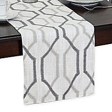 Image Of Softline 90 Inch Ashby Table Runner In Silver