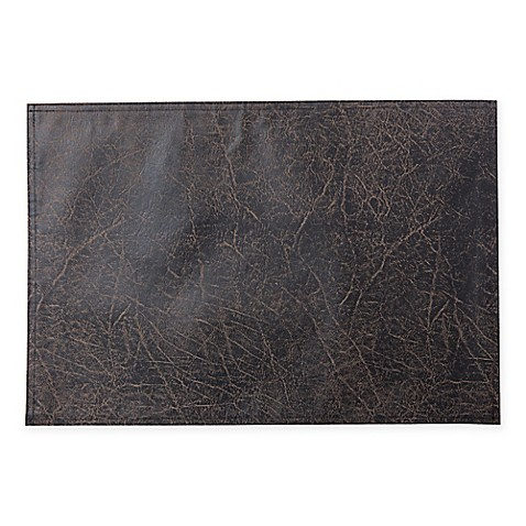 Keeco Distressed Faux Leather Placemat Bed Bath Amp Beyond