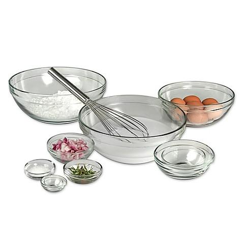 tempered glass mixing bowls set of 10 bed bath beyond. Black Bedroom Furniture Sets. Home Design Ideas