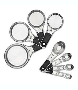 Set de cucharas/tazas medidoras OXO®, de acero inoxidable, 8 piezas