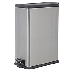 image of salt 45 liter rectangular slim step trash can. Interior Design Ideas. Home Design Ideas