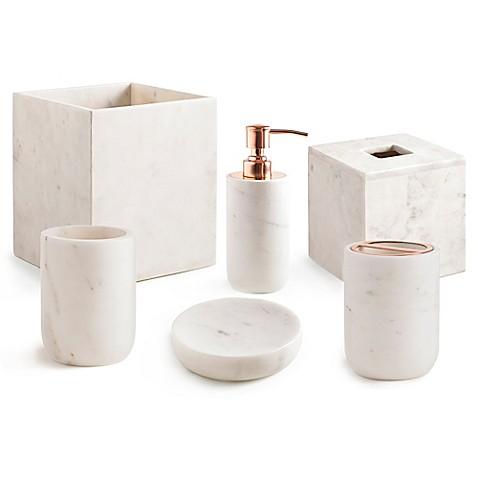 kassatex pietra bath ensemble in white - Kassatex
