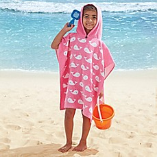 image of Pink Whale Kids Hooded Towel