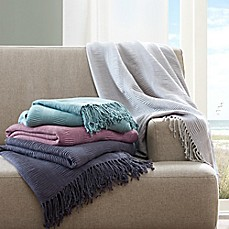 image of INK+IVY Reeve Ruched Throw Blanket