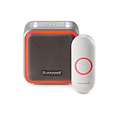 image of Honeywell Series 5 Portable Wireless Doorbell with Halo Light and Pushbutton