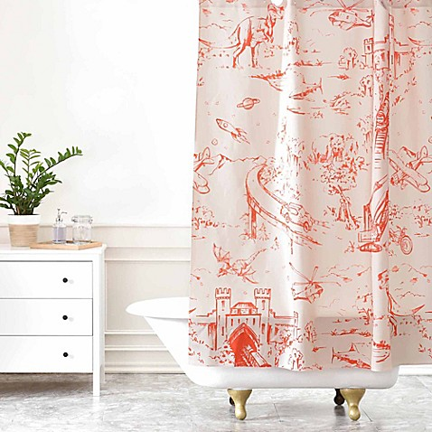 Deny Designs Pattern State Adventure Toile Dawn Shower Curtain in ...