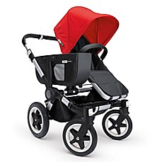 image of bugaboo donkey base stroller in aluminumblack