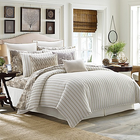 Tommy Bahama 174 Sandy Coast Comforter Set In Beige Bed