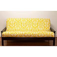 Siscovers Adele Microfiber Futon Slipcover In Yellow White