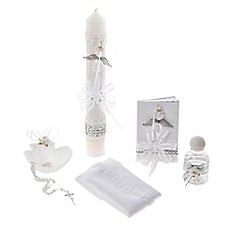 image of Lauren Madison Little Crystal 6-Piece Christening Set with Remembrance Missal