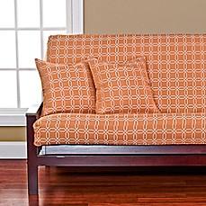 Siscovers Mandarin Futon Cover In Orange White