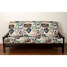 Image Of Siscovers Parks And Rec Futon Cover In Brown