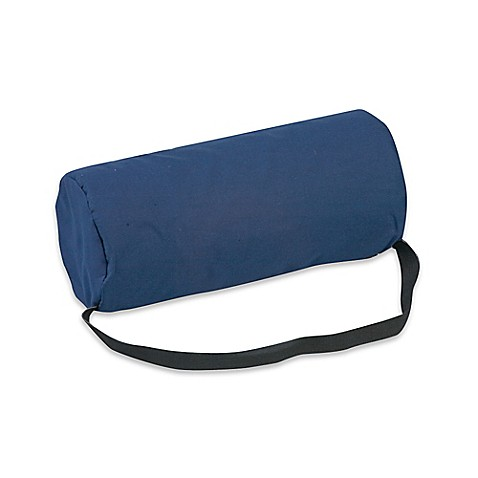 Buy Lumbar Support Back Roll Cushion In Blue From Bed Bath