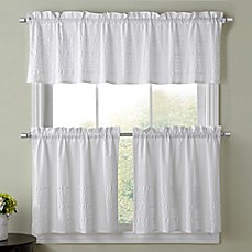 Image Of Sophia Kitchen Window Curtain Tier Pair And Valance Collection In  White