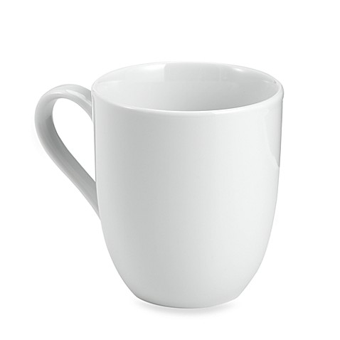 Everyday White® by Fitz and Floyd® Rim Barrel Mugs (Set of 4)
