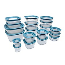 image of Rubbermaid® 38-Piece Flex & Seal Food Storage Set in Aqua