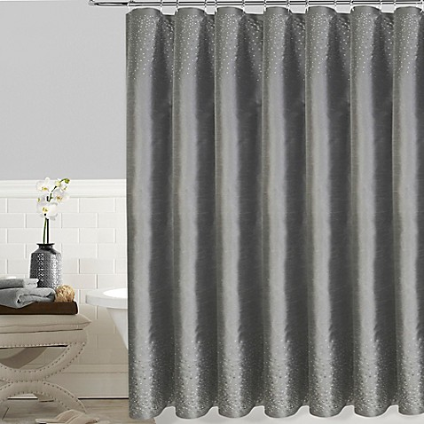 Twilight 72 Inch X 72 Inch Shower Curtain In Grey Bed
