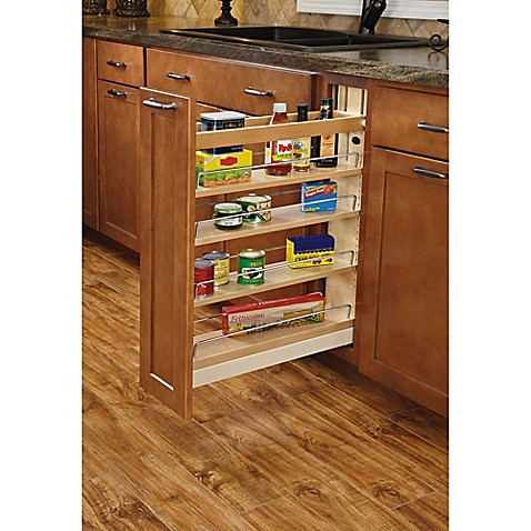 Rev a shelf base cabinet pullout organizer bed bath Pull out spice rack ikea